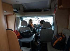 Fahrt im Wohnmobil